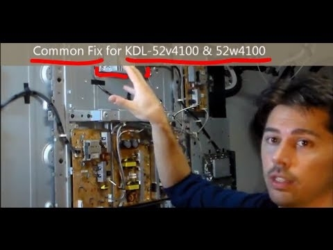 Easy Common Fix For Sony Tvs Kdl Red Light Blinking Youtube