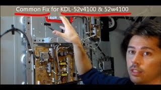 Easy Common Fix for Sony TVs KDL- Red light blinking