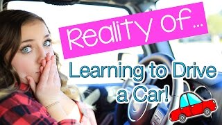 reality of learning to drive a car   brooklyn and bailey