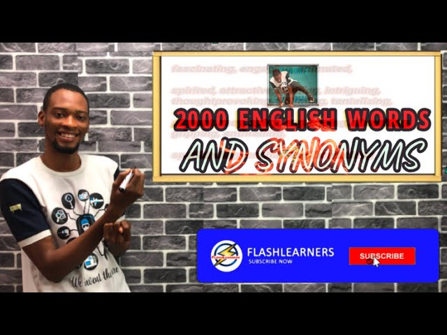 2000 Words And Synonyms For Waec And Jamb English