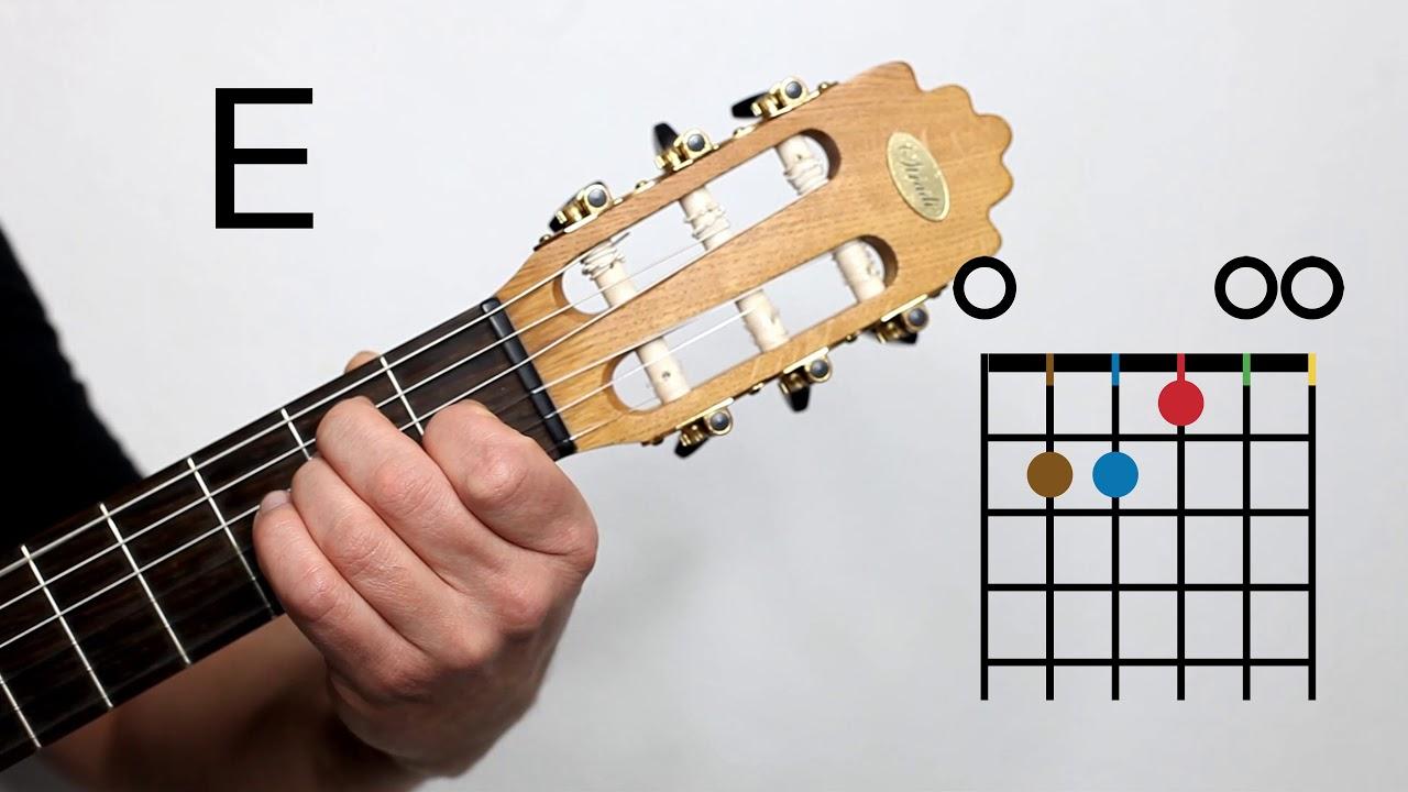 Gitarre - E-dur Akkord - in 1 Minute