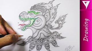 Drawing The Monkey King Thailand - How To Draw Pencil Art