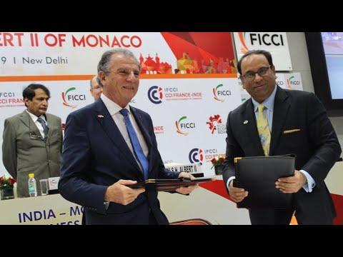 FICCI & Monaco Economic Board Sign MoU At IndiaMonaco Business Forum in Delhi | HSH Prince Albert II