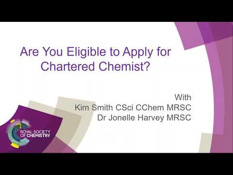 How to apply for the award of Chartered Chemist (CChem)