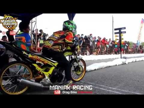 full !!  UJM vs YB55 vs PUTRA MAHESA  vs NDPtech  satria fu std 155cc drag bike bsmc kebumen 2016 |