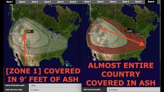 Yellowstone Volcano Ash Cover Projections & Scary Statistics - Latest, 6/28/2018