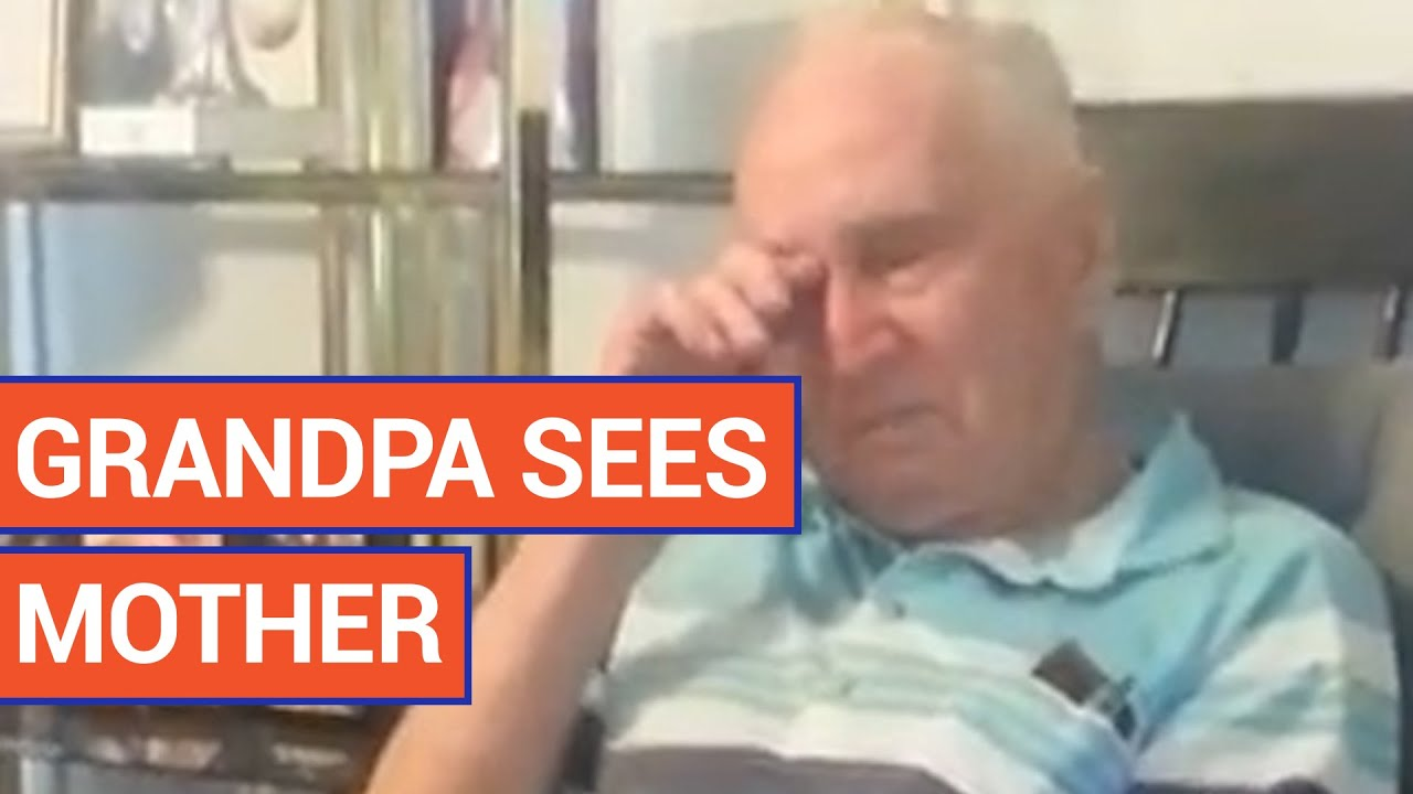 Grandpa Sees Mother's Face for First Time in 70 Years