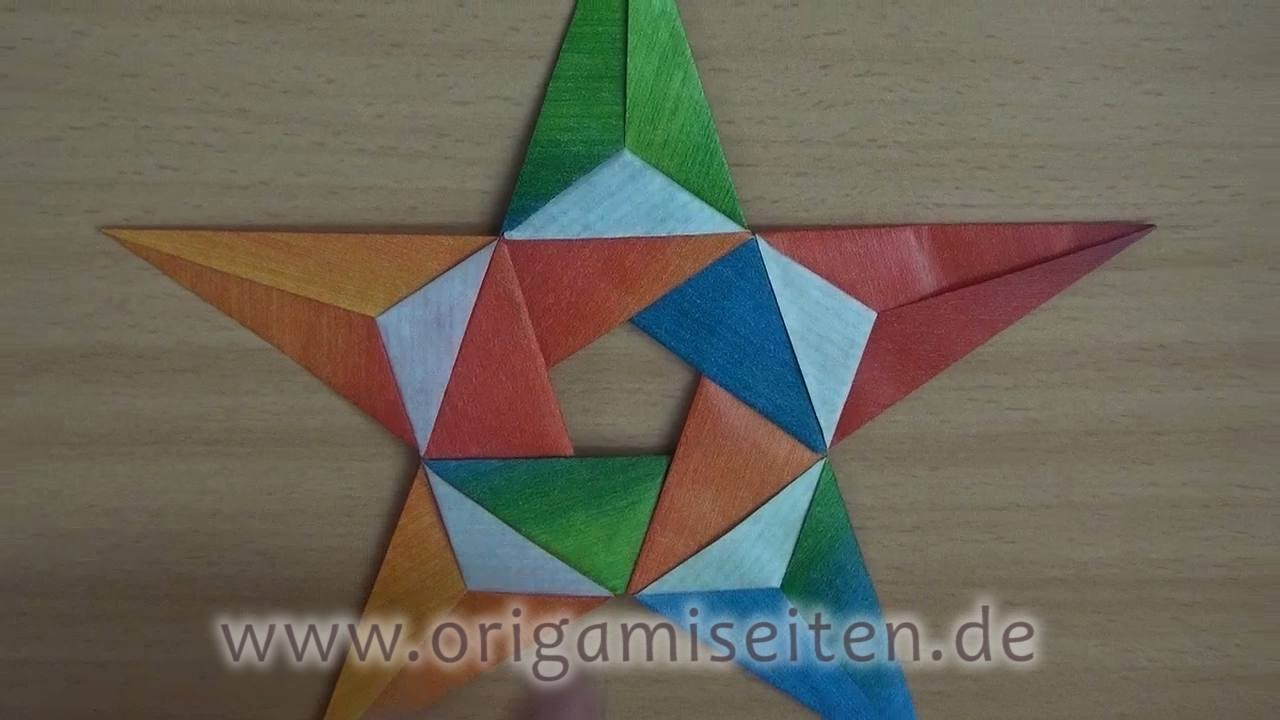 stern isabella anleitung f r ein origami pentagramm carmen sprung youtube. Black Bedroom Furniture Sets. Home Design Ideas