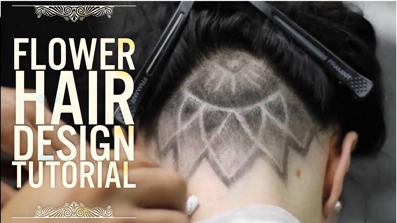 Flower Hair Design Barber Tutorial Youtube