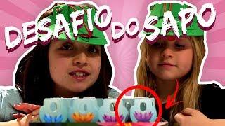 🐸 DESAFIO DO SAPO: PERDI PARA MINHA IRMÃ?? | Unboxing de Brinquedo: Jogo Sapesca 🐸