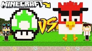 ZAMEK MARIO GRZYB VS ZAMEK ANGRY BIRDS W MINECRAFT!