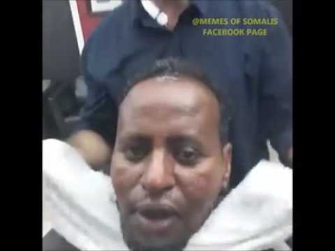Arab barber applies Diana cream on a Somali guy (Funny Video)