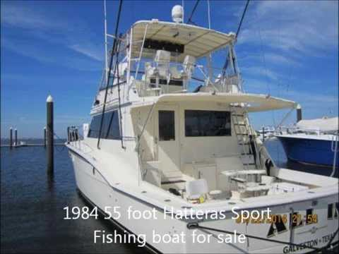 1984 55 Foot Hatteras Sport Fishing Boat For Sale. Galveston, TX. $325,000.