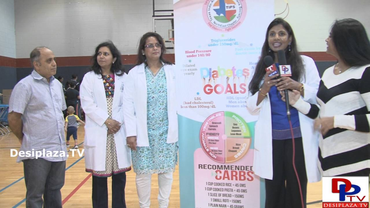 Dr.Hima Reddy, President of TIPS (Texas Indo Physicians Society) speaking to the media