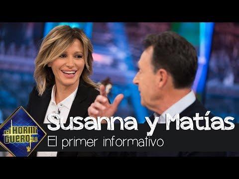 La reacción de Matías Prats y Susanna Griso al ver su primer informativo en Antena 3 - El Hormiguero