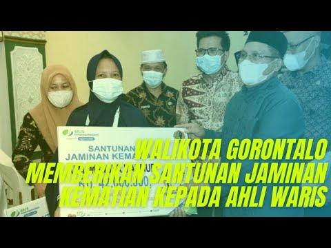 Walikota Gorontalo Memberikan Santunan Jaminan Kematian dari BPJS Gorontalo Kepada Ahli Waris