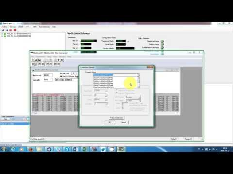 Modbus configuration via RS485 ModScan64 Master - YouTube