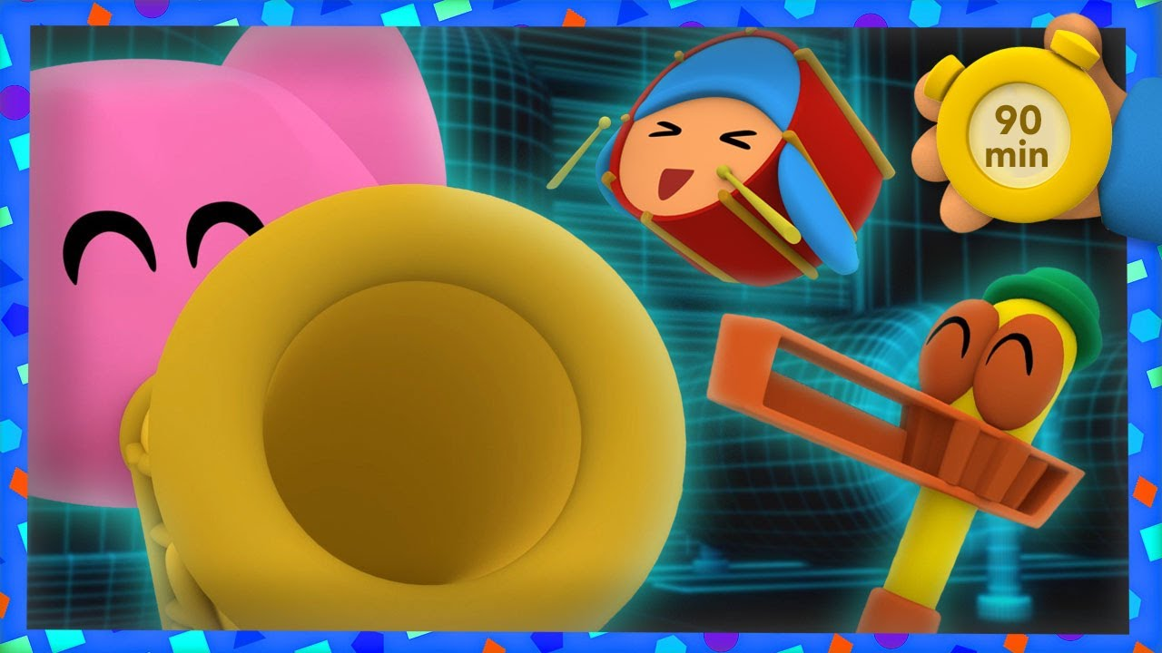 🎸POCOYO AND NINA - A fantastic musical party [90 min] |ANIMATED CARTOON for Children | FULL episodes