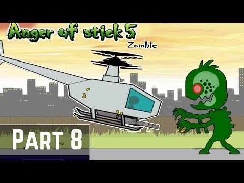 Anger of Stick 5 Zombie Gameplay Part 8 - Zombies attack on