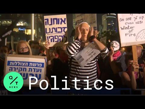Netanyahu Protest: Hundreds Rally Against Israeli Government  In Tel Aviv