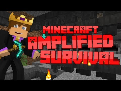 Minecraft: Amplified Survival #24 - AUTO SMELTER 5000!