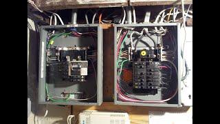 Inexpensive residential generator hookup