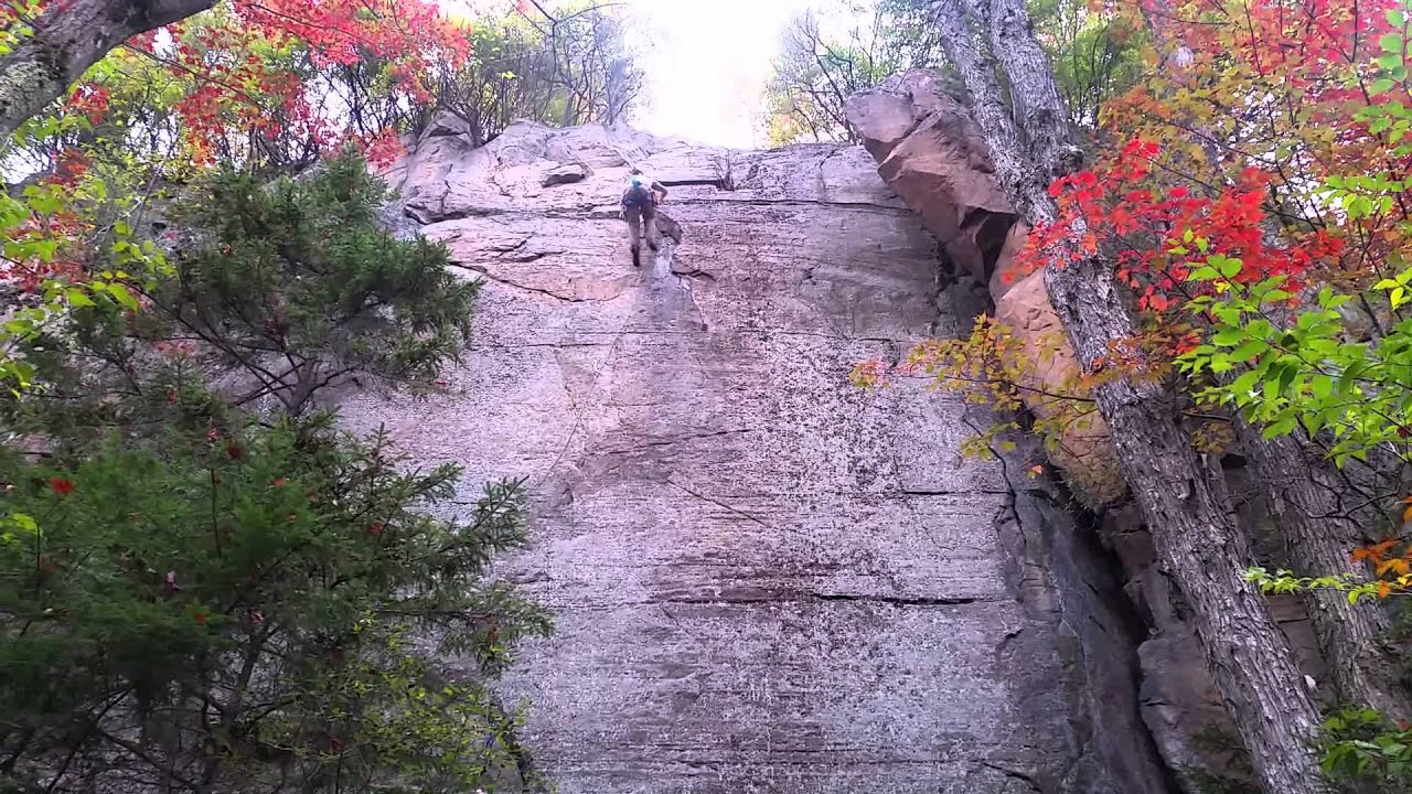 Funny Video: Climber Saved By The Harness