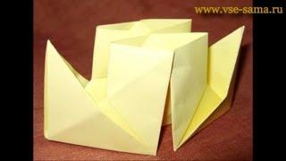 Оригами - Кораблик с квадратными трубами
