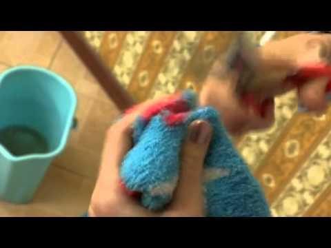 Тряпка для швабры из махрового носка