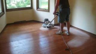 refinishing a hardwood floor