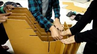 Corrugated Cardboard Chair Project