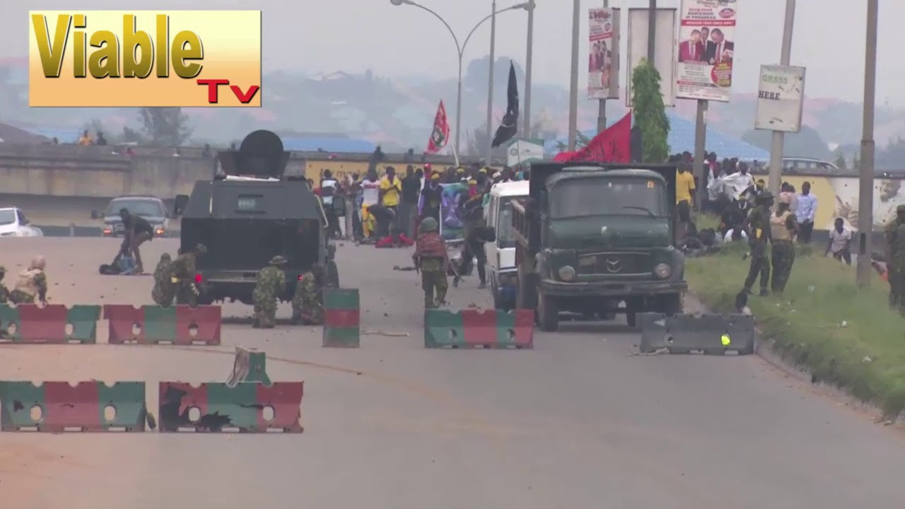 Just In : Many Killed As Nigerian Soldiers Open Fire On Shiite Protesters In Abuja