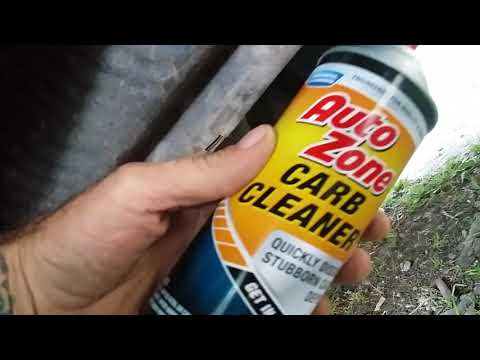 Using CARB CLEANER to clear catalytic converter