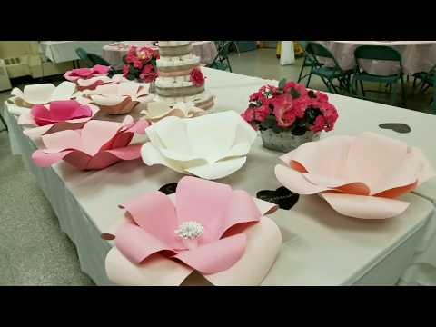 Paper Flower Backdrop DIY Beginners l JANAMUA