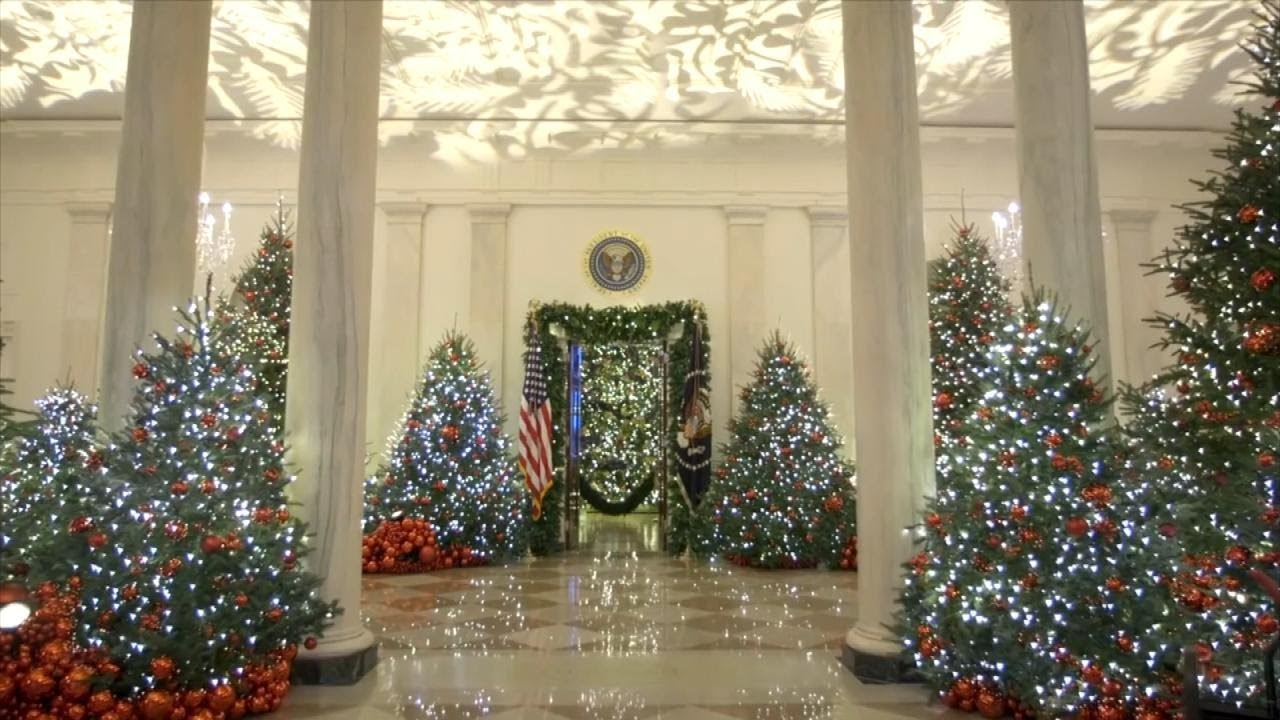 white house unveils christmas decorations including be best ornaments