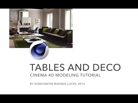 Cinema 4D - Modeling Tables and Decoration Tutorial