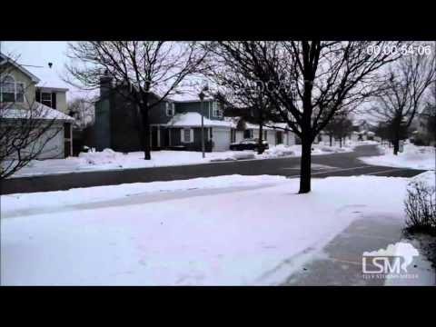 1-11-16 Rolling Meadows, Illinois; Light Snow