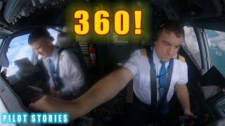 Взлет Боинг 737 Из кабины 360 VR видео ИСТОРИИ ПИЛОТА