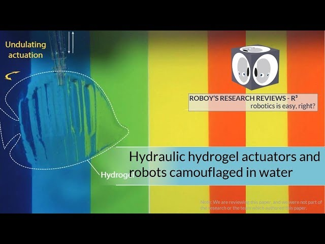 Hydraulic hydrogel actuators – disguiseable water robots? I R3 Roboy's Research Reviews #14