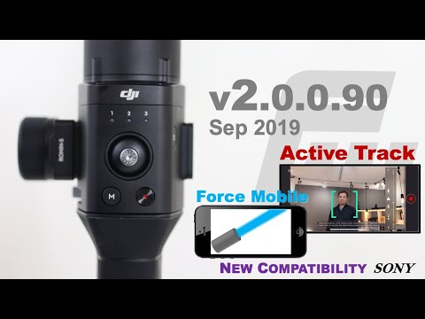 DJI Ronin-S Firmware Update V2!!!   New Features From SC - Active Track & Force Mobile   Sony A7R4