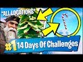 *ALL* Fortnite LOCATIONS | GIANT CANDY CANES, HOLIDAY TREES (14 Days Of Christmas)