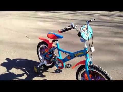 ОНЛАЙН ТРЕЙД.РУ  Детский велосипед Navigator Супермен (ВН18080Н), синий/красный