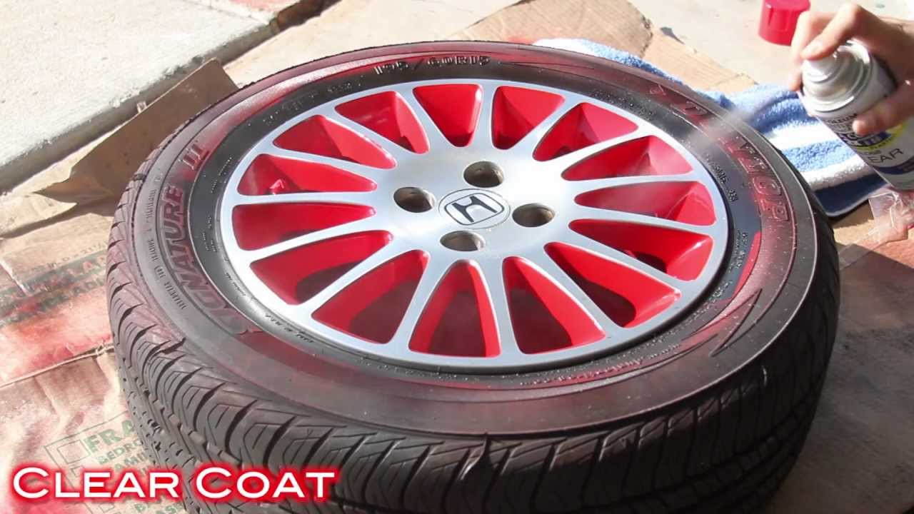 Easy Way To Customize Wheels With Spray Paint 2 Tone Finish On Civic Stock You