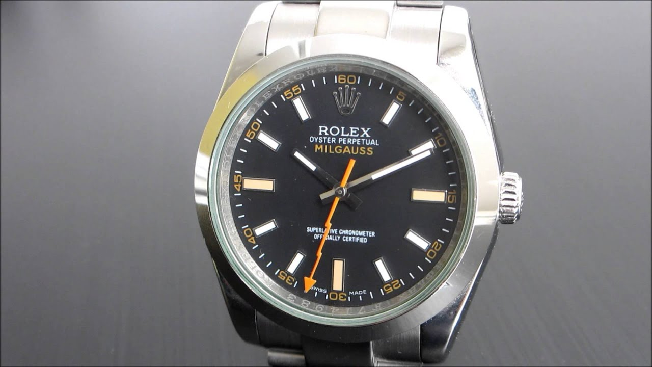 One minute on a fake rolex milgauss youtube for Rolex milgauss