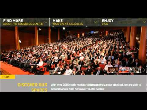Video of the new website of the Lyon Convention Center