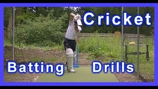 Left Hand HD Cricket Coaching Batting Drills/Training/Practice Off & Straight Drives