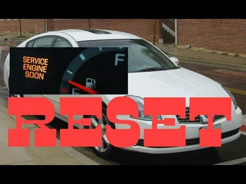 How To Reset Service Engine Soon Light On A 2005 Nissan Maxima.