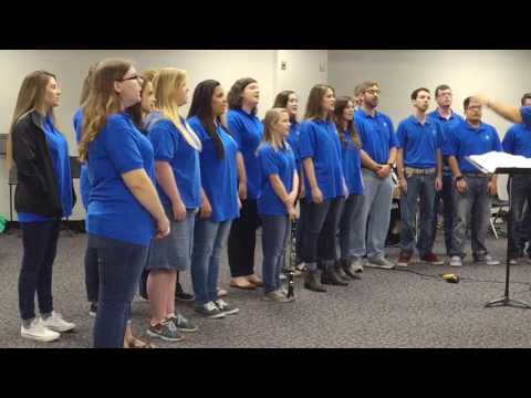The Bevill State Community College Choir singing Song of Joy