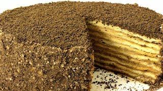 """Торт """"Микадо"""". Песочные коржи и карамельный крем. Подробный рецепт."""