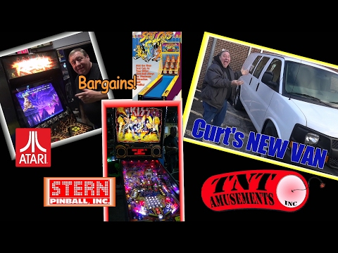 #1239 KISS Premium Pinball-Atari PRIMAL RAGE-Sega BLAST CITY-TNT Amusements NEW VAN for Curt!
